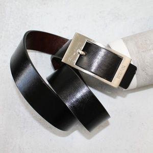 Kenneth Cole Reaction Men's Black Leather Belt 32